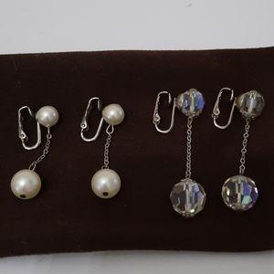 Vintage Teardrop Earrings 2 Pairs